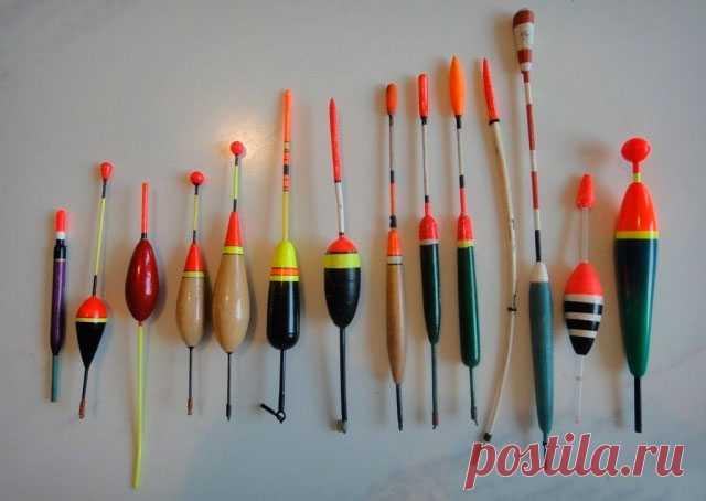 Поплавки для рыбалки - виды, классификация по условиям ловли