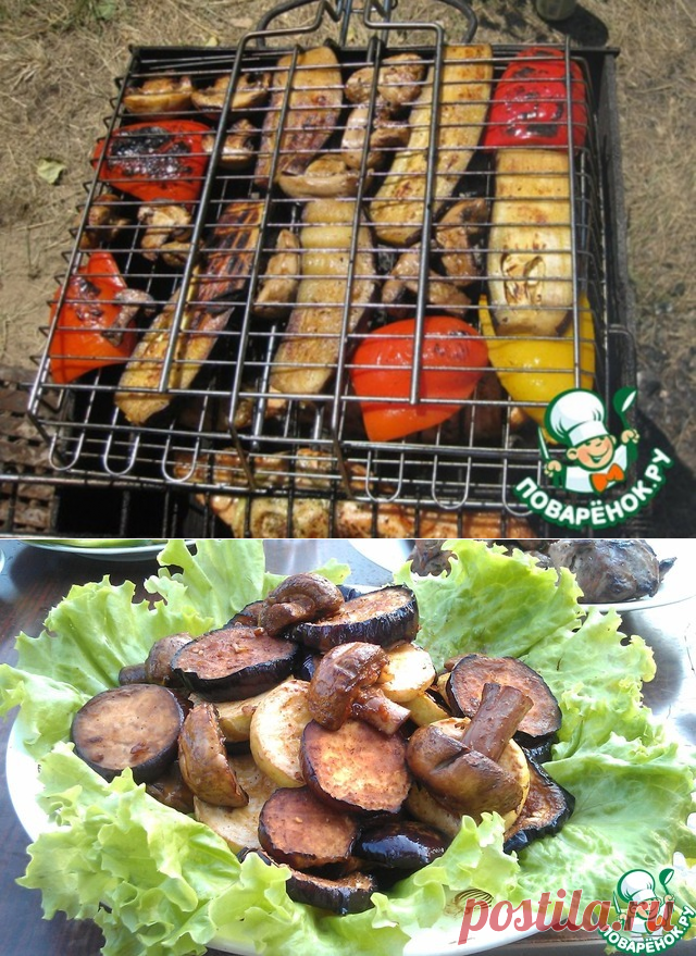 """Овощи-гриль """"9 minute маринатор"""" от Рустама – кулинарный рецепт"""
