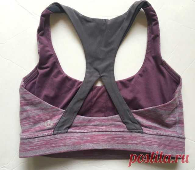 LULULEMON 50 Rep Sports Bra Mauve Gray Strata Stripe size 4 EUC Yoga Gym Spin | eBay