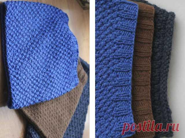 как связать шарф снуд спицами для начинающих фото и видео уроки