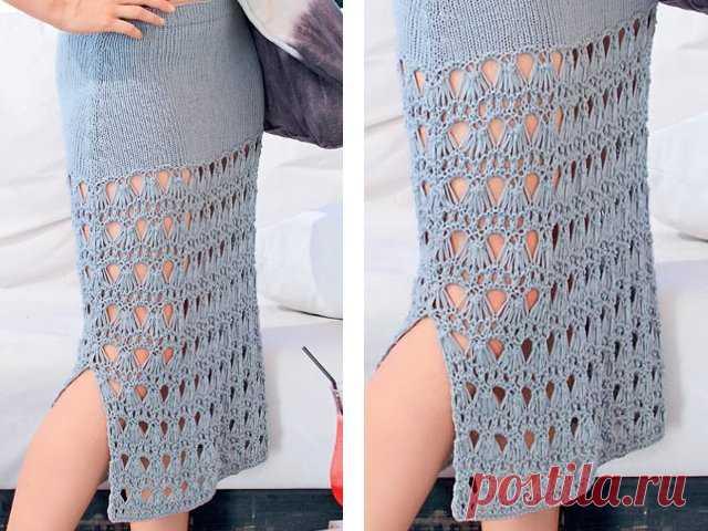 f91cd16bdea Вязание юбки спицами - схему и описание для начинающих