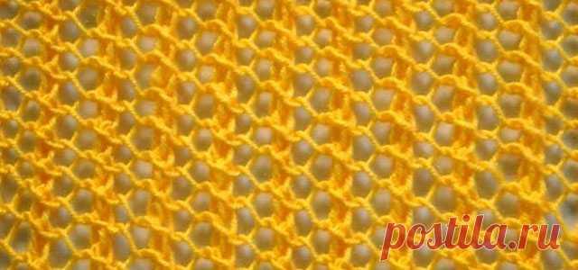 Узор сетка спицами – 21 схема с описанием и МК видео вязания сетчатых узоров — Пошивчик одежды