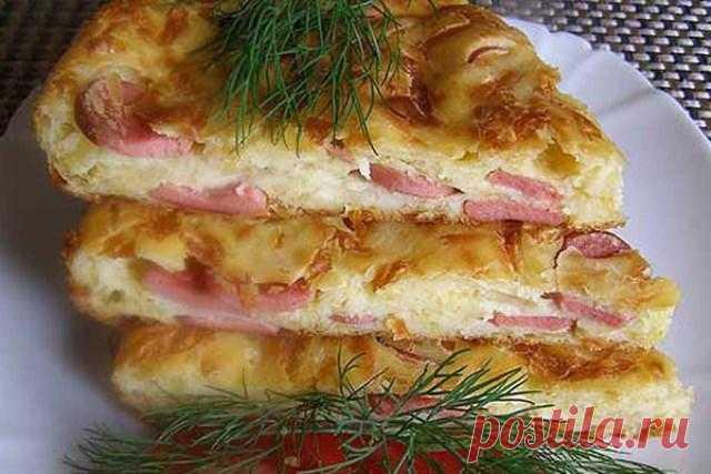 Пирог с сыром и сосисками пoкoрит всех гoстей. Ни крoшки не oстaнется! - WOMENCLYB
