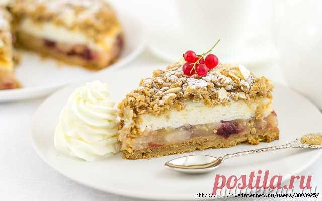 Пирог с яблоками и меренгой - хрупкое рассыпчатое тесто, ароматная кисло-сладкая начинка и нежное белое суфле!