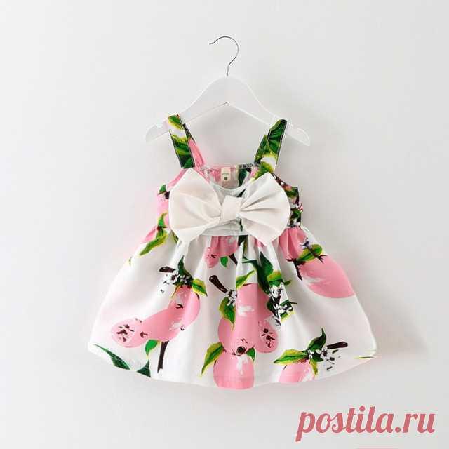 93476c3305de8 Aliexpress.com  Acheter 2017 bébé robes fille d été floral robe Sans Manches