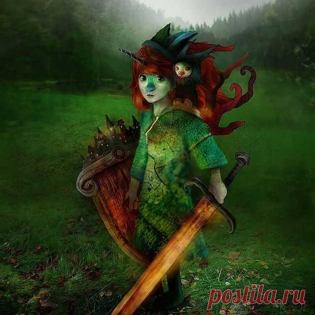 'The knight' #alexanderjansson #illustration #fantasy #portrait