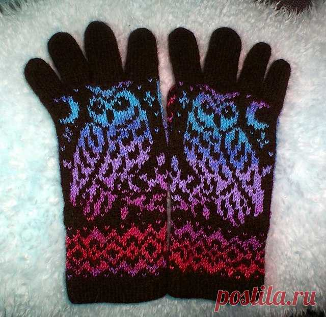 Перчатки с жаккардовым узором