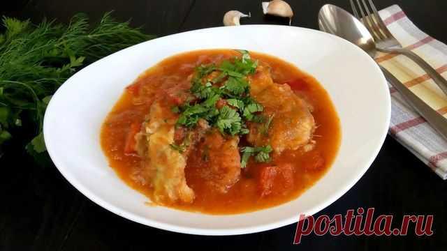 Минтай в томатном соусе – пошаговый рецепт с фотографиями