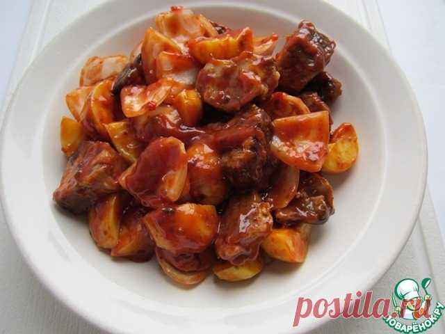 Тёплый шашлычный салат – кулинарный рецепт