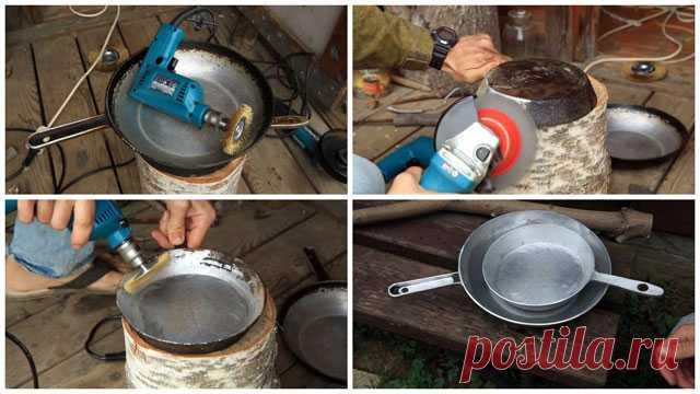 Способы очистки алюминиевой и чугунной сковородки от нагара