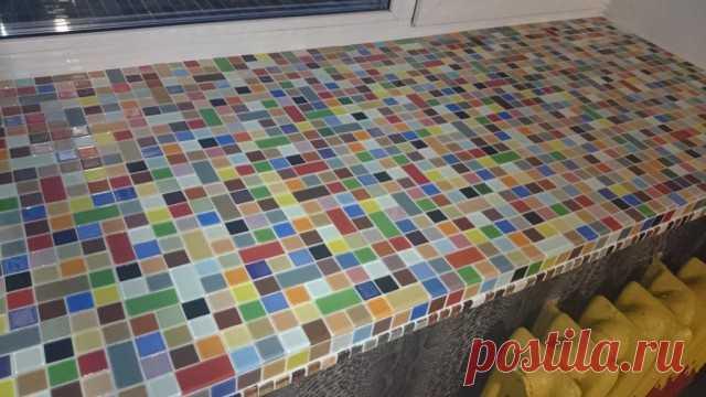 Как сделать красивый и оригинальный подоконник из мозаики своими руками. Легко и просто!