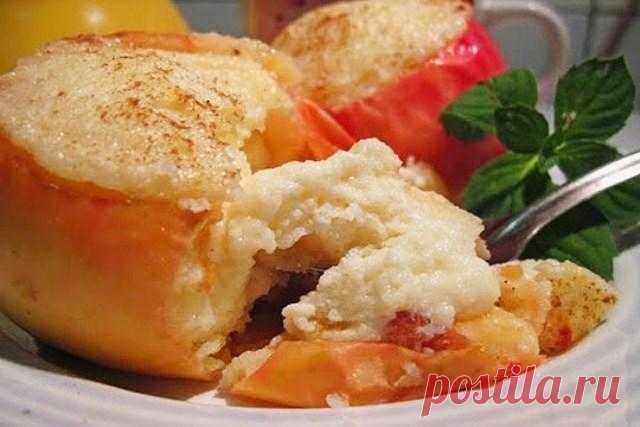 Печеные яблоки с творожной начинкой - десерт полезный и низкокалорийный, подходит и для детского питания. - WOMENCLYB
