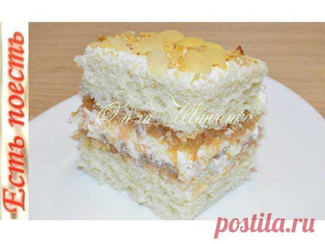Торт яблочный выпекается с начинкой – пошаговый рецепт с фотографиями