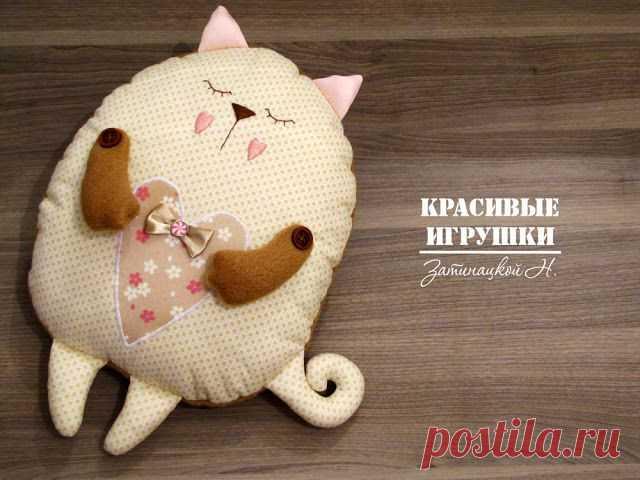 Мастер класс по пошиву кота подушки / Разнообразные игрушки ручной работы / PassionForum - мастер-классы по рукоделию
