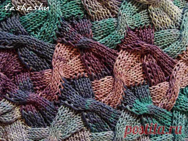 стирки вязаный шарф бабочки узор светлана гордон вязание пэчворк