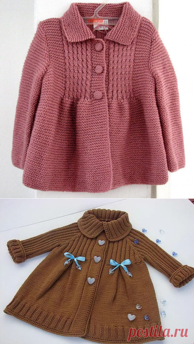 вязаное пальто для девочки 1 год спицами с описанием вязание спицы