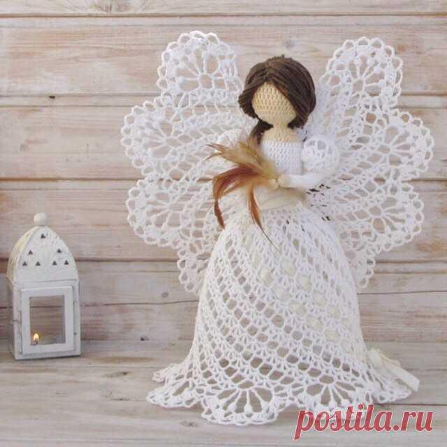 Ажурные ангелы крючком