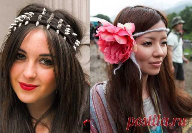 оригинальные повязки на голову / Украшения для волос / Модный сайт о стильной переделке одежды и интерьера