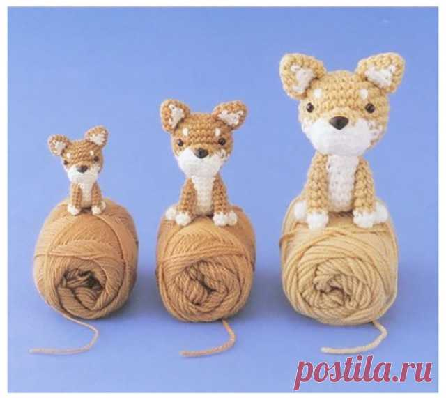собачки амигуруми крючком своими руками схемы техника вязания