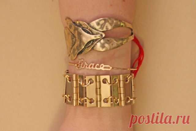 Браслет из миниатюрных навесов (мастер-класс) / Украшения и бижутерия / Модный сайт о стильной переделке одежды и интерьера