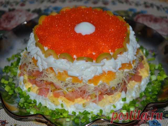 Праздничный слоеный салат Жемчужина..