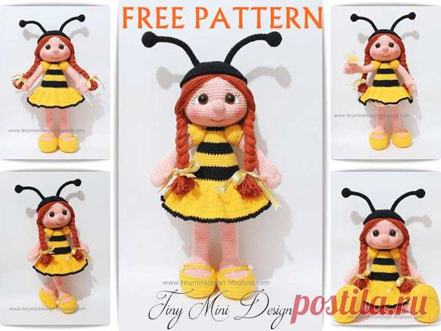 FREE PATTERN! Amigurumi doll Pattern... - Tiny Mini Design | Facebook | 480x640