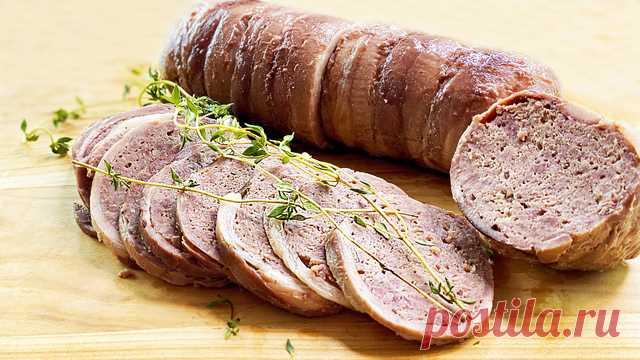 Домашняя колбаса вкуснее магазинной без кишок, без желатина – пошаговый рецепт с фотографиями