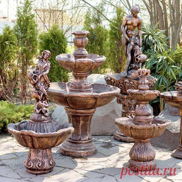 Садовые фонтаны на участке — фото —Ботаничка.ru