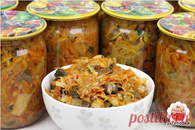 Капустная солянка с опятами   Капустная солянка – одна из самых универсальных заготовок, ее можно использовать для рагу и супа, брать как начинку в пирог, она отлично идет как самостоятельное блюдо. Солянка – блюдо, относящееся к старинной русской кухне. Так называли суп, приготовленный на концентрированном бульоне и тушеную капусту с грибами или мясом. Основу грибной солянки составляют капуста и грибы. Можно приготовить такое блюдо и сразу его съесть, а также удобно сдела...