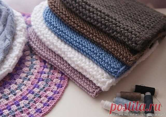 Шапка — бини и снуд платочной вязкой (Вязание спицами) — Журнал Вдохновение Рукодельницы