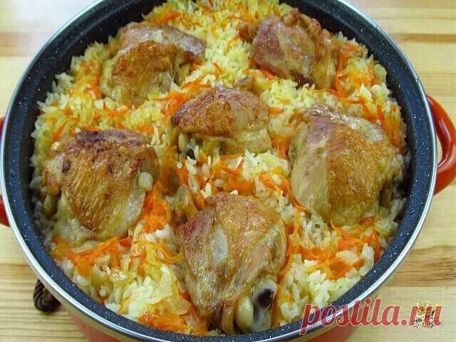 Рис с курицей в духовке.