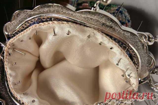 МК по пришиванию фермуара к сумочке.