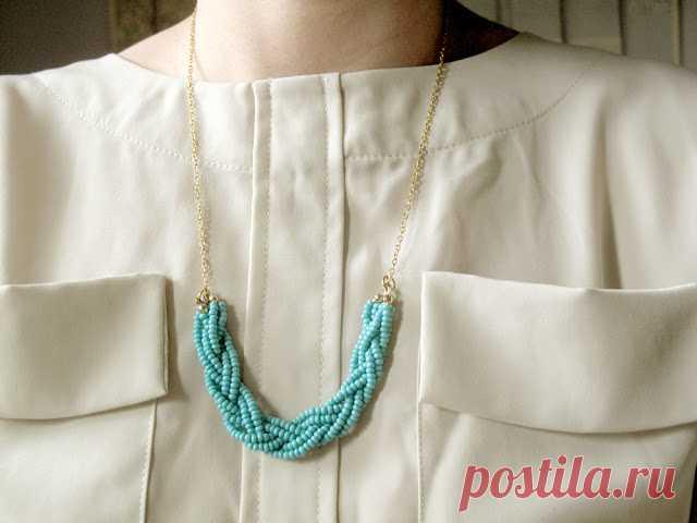 Чудесное бисерное ожерелье своими руками — Сделай сам