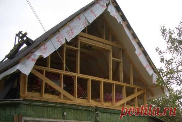 Pediments of wooden houses and photo how to sheathe cheaper the Device of a pediment of the wooden house and a peak. Description of technology of a covering of a pediment lining and siding. Recommendations about installation.
