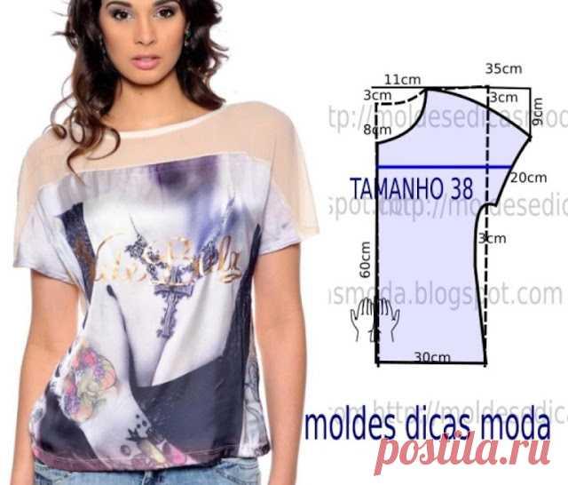 922c9912451 Простые выкройки летних блузок №3