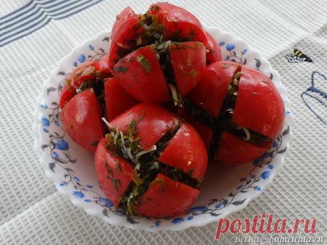 Los tomates poco salados con la verdura