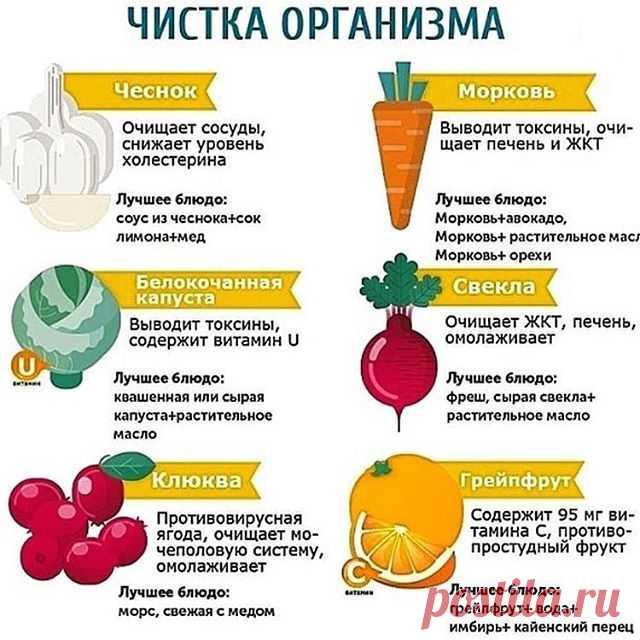 6 натуральных продуктов для очищения организма — Полезные советы
