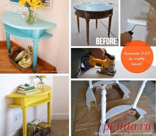 Из старого стола - 2 модных элемента декора: мастер-класс — Сделай сам, идеи для творчества - DIY Ideas