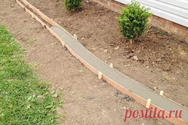 Из чего сделать бордюр для садовой дорожки – 7 вариантов на любой вкус   Бордюры и дорожки (Огород.ru)