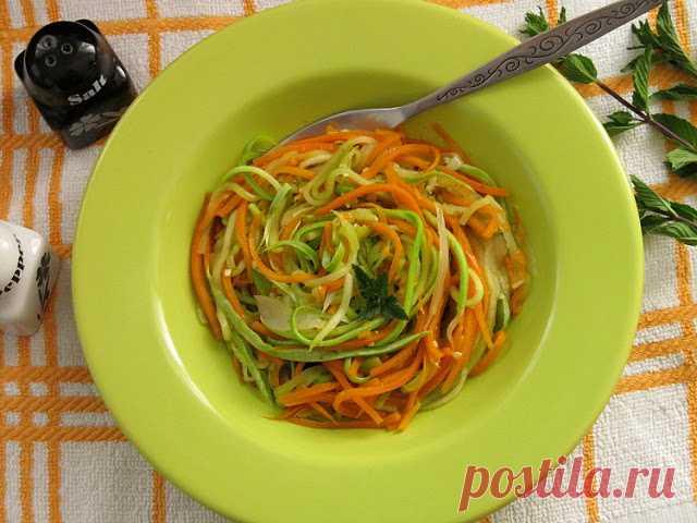 Овощная лапша - вкусный гарнир для мясных блюд