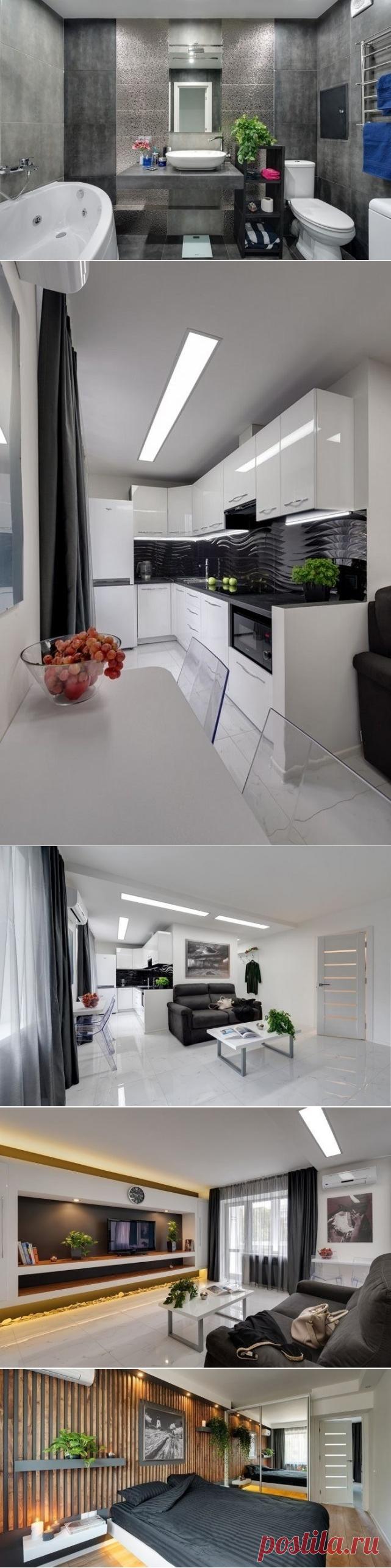 Современный дизайн двухкомнатной квартиры 45 кв.м.. - Дизайн интерьеров | Идеи вашего дома | Lodgers