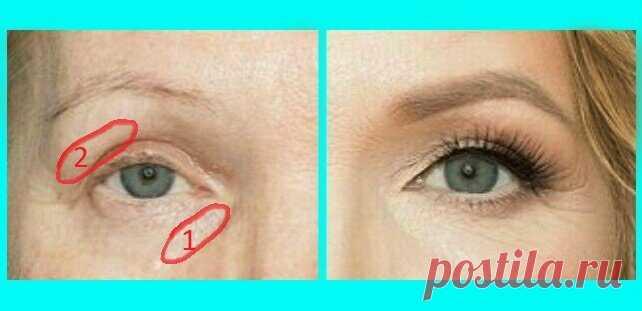 А как вы так освежили глаза: прием в макияже, который визуально омолаживает после 50 и старше (фото до и после)   О макияже СмиКорина   Яндекс Дзен
