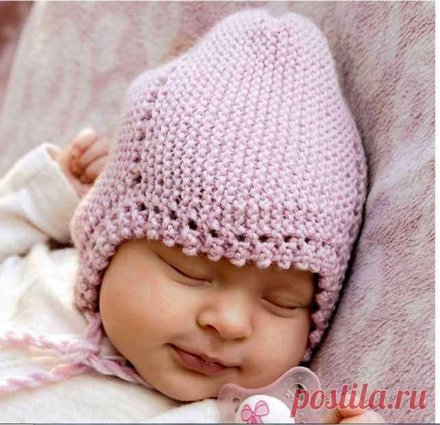 Шапочка для малышей. - Шапки, кепки, шляпки, повязки - Каталог файлов - Вязание для детей