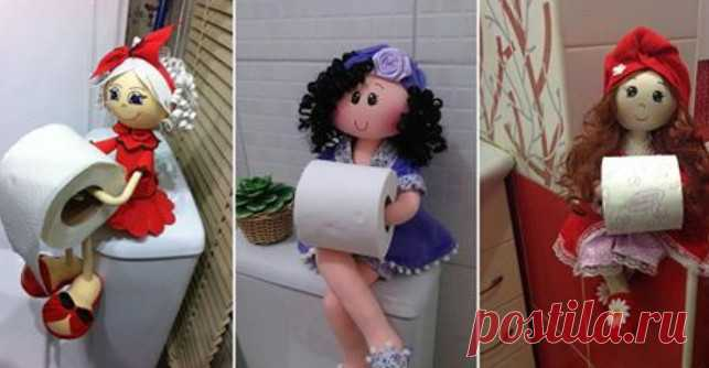 Оригинальные держатели для туалетной бумаги. Идеи, выкройки и мастер класс своими руками