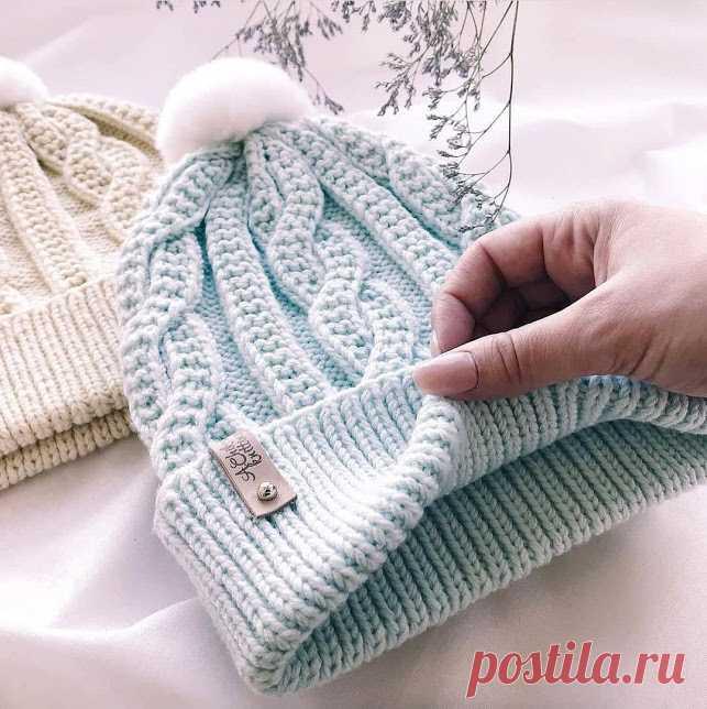 ВСЕ СВЯЗАНО. ROSOMAHA.: В копилку будущей зимы: красивая шапочка c аранами.