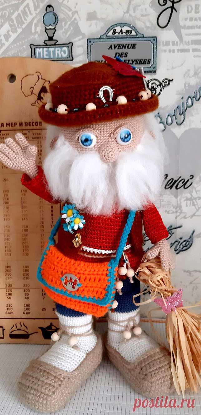 PDF Домовёнок Харитон крючком. FREE crochet pattern; Аmigurumi doll patterns. Амигуруми схемы и описания на русском. Вязаные игрушки и поделки своими руками #amimore - домовой, домовёнок.