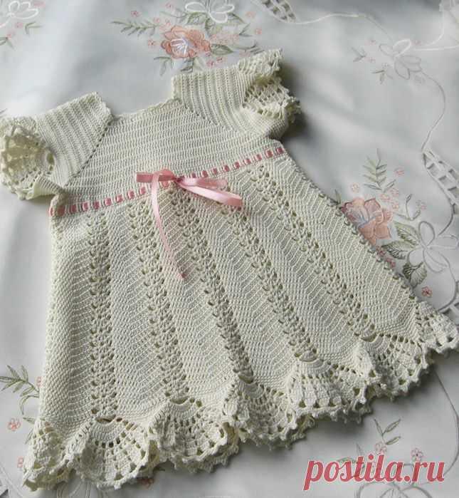 Крестильное платьице для Викуси. МК Мое рукоделие.