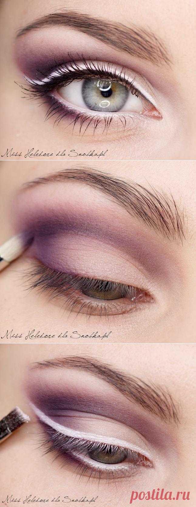Макияж глаз: Сливовый десерт. Великолепный пошаговый урок с фото и рекомендациями!