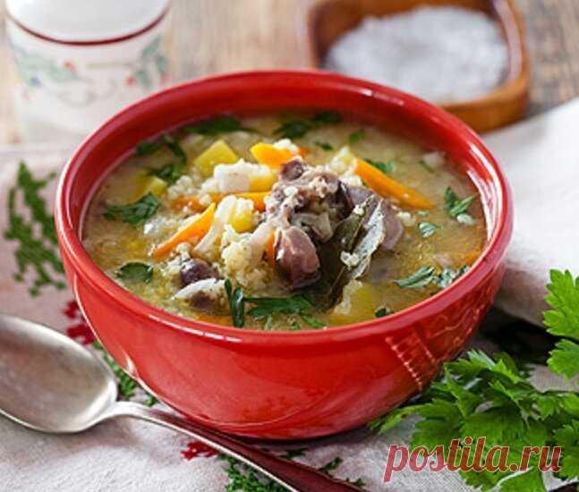 Суп с куриными потрошками – оригинальный рецепт