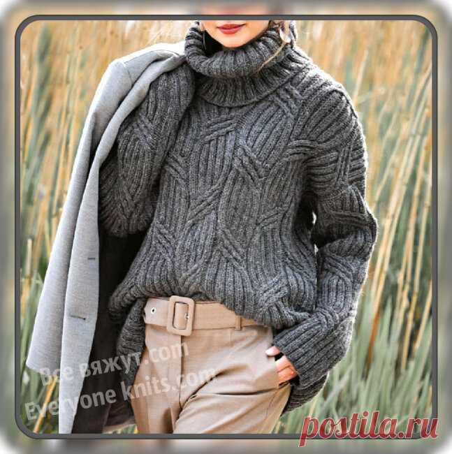 Не страшны нам холода, если свяжем свитера -10 моделей спицами. | Все вяжут.сом/Everyone knits.com | Яндекс Дзен